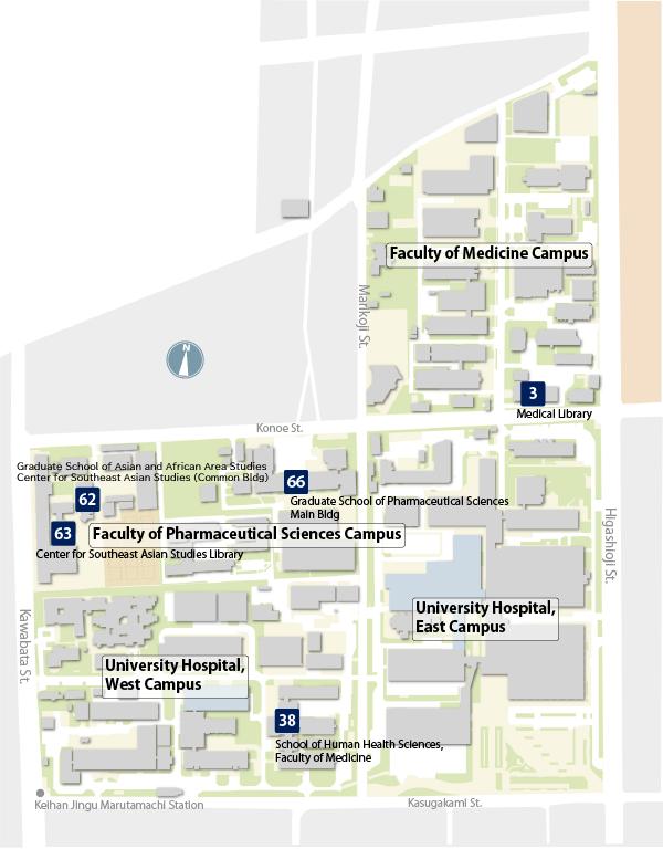 Kyoto University Library Network - Kyoto University Libraries Map