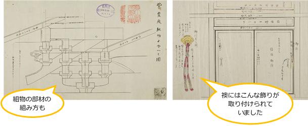紫宸殿圖 / 禁裏建物飾彫刻下繪其他器具繪圖